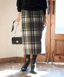 ROPE' PICNIC(ロペピクニック)の【WEB限定:着丈が選べる】ビッグチェックアイラインスカート(スカート)
