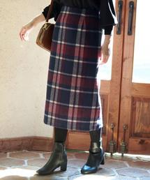 ROPE' PICNIC(ロペピクニック)の【新色追加】【WEB限定:着丈が選べる】ビッグチェックアイラインスカート(スカート)