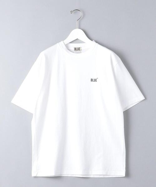 <BLUE(ブルー)> オーガニック ロゴ Tシャツ