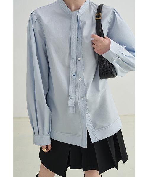 【Fano Studios】【2021AW】Embroidery bowtie shirt FX21S283