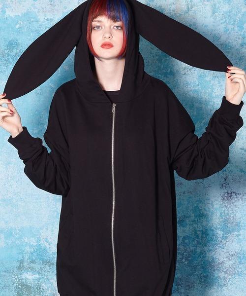 春先取りの ウサギパーカー -スーパービッグ-(パーカー)|ankoROCK(アンコロック)のファッション通販, リッチパウダー:a3b32c56 --- genealogie-pflueger.de
