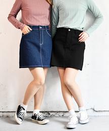 PairPair(ペアペア)の定番デニム台形スカート(スカート)