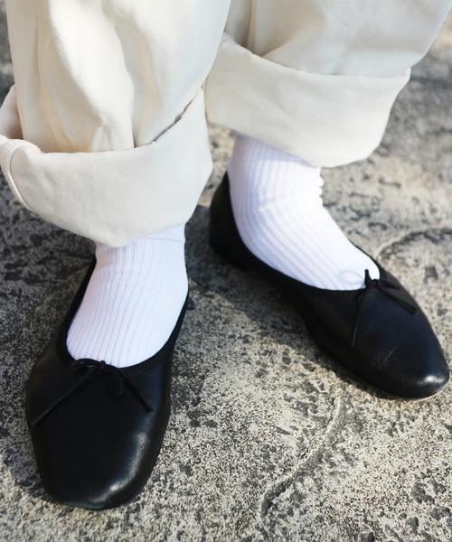 靴下屋(クツシタヤ)の「靴下屋/ 2×2リブソックス(クルー丈)(ソックス/靴下)」|ホワイト