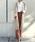 YANUK(ヤヌーク)の「コーデュロイ ハイライズ ストレート ウォームパンツ(その他パンツ)」|詳細画像