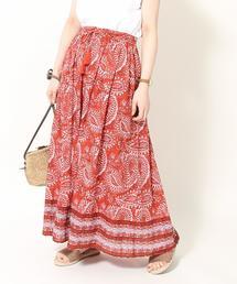 【『リンネル』6月号掲載・Market】ペイズリープリントロングスカート