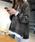 La-gemme(ラジエム)の「重ね着風ゆるトレーナー(スウェット)」|ダークグレー