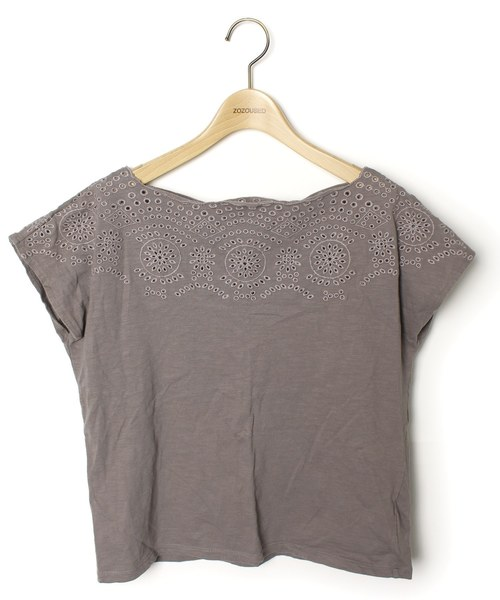 BEAUTY&YOUTH UNITED ARROWS(ビューティアンドユースユナイテッドアローズ)の古着「半袖カットソー(Tシャツ/カットソー)」|グレー