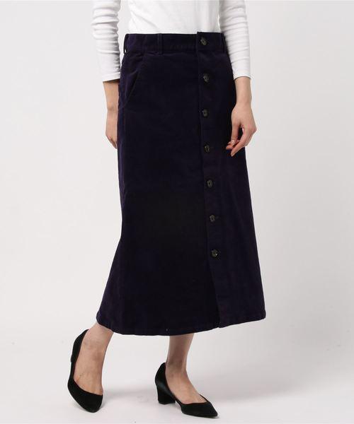 BEAUTY&YOUTH UNITED ARROWS(ビューティアンドユースユナイテッドアローズ)の古着「スカート(スカート)」|パープル