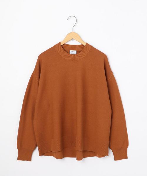 【デオドラント】コットンガーター編みプルオーバー