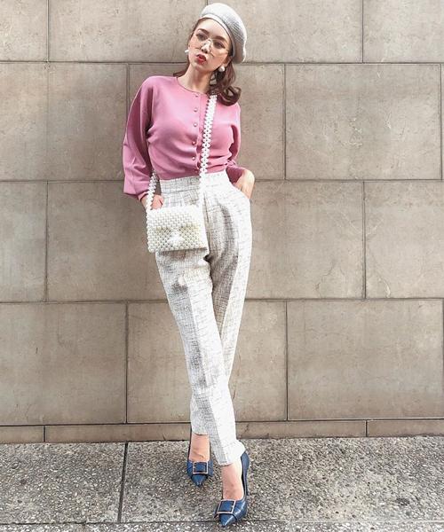 【激安】 eimyツイードテーパードパンツ(パンツ)|eimy istoire(エイミーイストワール)のファッション通販, フソウチョウ:657e3417 --- skoda-tmn.ru