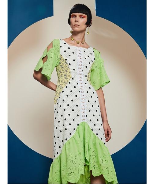 PAMEO POSE(パメオポーズ)の「Chimera Dress(ワンピース)」|ホワイト