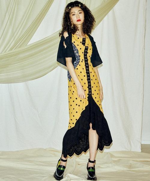 PAMEO POSE(パメオポーズ)の「Chimera Dress(ワンピース)」|イエロー