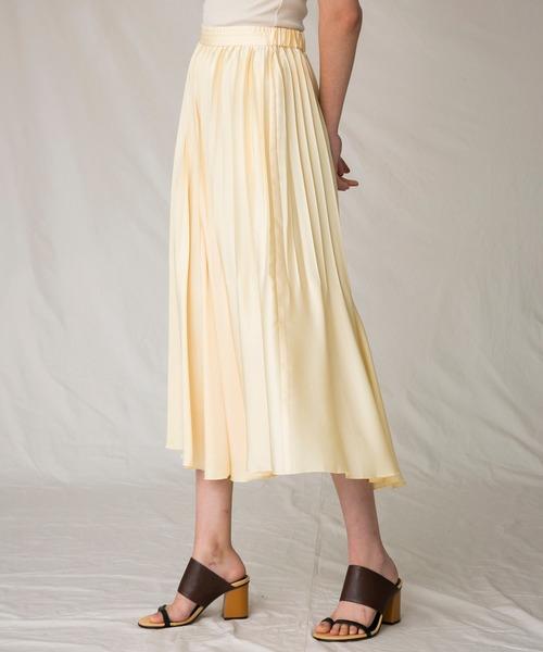 MAISON SPECIAL(メゾンスペシャル)の「サテンプリーツスカート【MAISON SPECIAL/メゾンスペシャル】(スカート)」|詳細画像