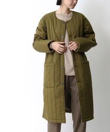 【 MONT KEMMEL / モンケメル 】QUILTED COAT キルティングコートカーキ