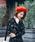 Bello(ベッロ)の「【Bello】MULTI COLOR WOOL BERET(ハンチング/ベレー帽)」|レッド