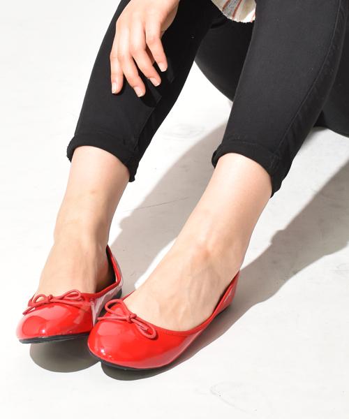 SVEC(シュベック)の「バレエシューズ SVEC / シュベック ballet shoes(バレエシューズ)」 レッド系その他