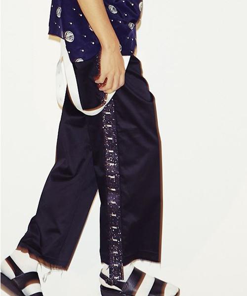 珍しい WIDE LINE PANTS(チノパンツ) LINE|GDC(ジーディーシー)のファッション通販, JEANS-SANSHIN:0a601fe3 --- skoda-tmn.ru