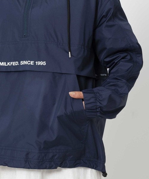 LOGO LINED TAPE HALF ZIP BLOUSON