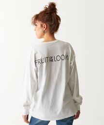 【別注】FRUIT OF THE LOOM × EMMEL REFINES 刺繍ワッペンロンT