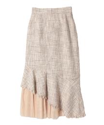 eimy istoire(エイミーイストワール)のツイードフリルスカート(スカート)