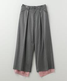 sulvam(サルバム)BIAS WIDE PANTS