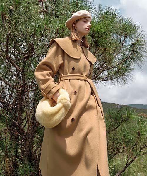 【Fano Studios】【2021AW】Round big collar wool coat FD21D010