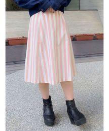 dazzlin(ダズリン)のストライプフレアスカート(スカート)