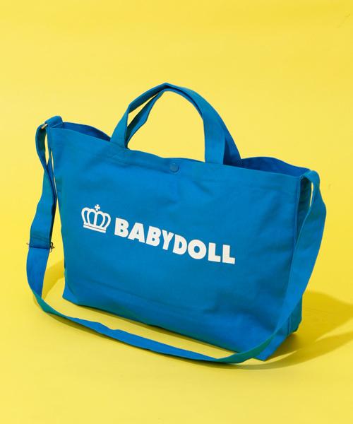 BABYDOLL(ベビードール)の「A4サイズ対応 2way王冠ロゴトートバッグ 1845(ショルダーバッグ)」 ターコイズブルー