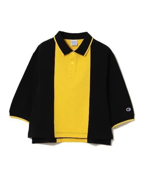 Champion × Ray BEAMS / 別注 2トーン ライン ポロシャツ