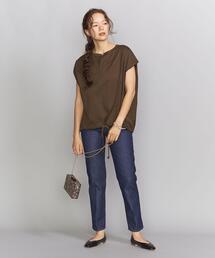 【別注】<Americana(アメリカーナ)>ドローストリングフレンチスリーブTシャツ