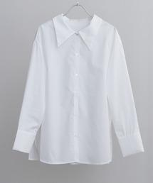 でか衿/ワイドカラー/ビックカラーシャツオフホワイト
