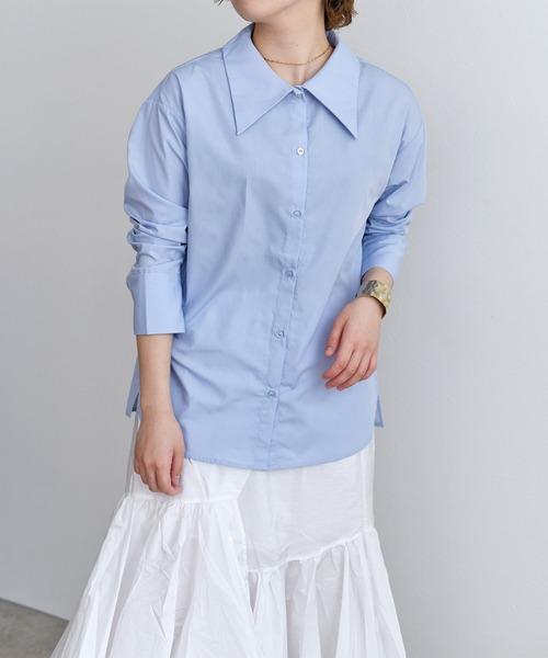 でか衿/ワイドカラー/ビックカラーシャツ