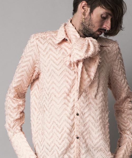 ms3732-フリンジJQストール付ロングシャツ