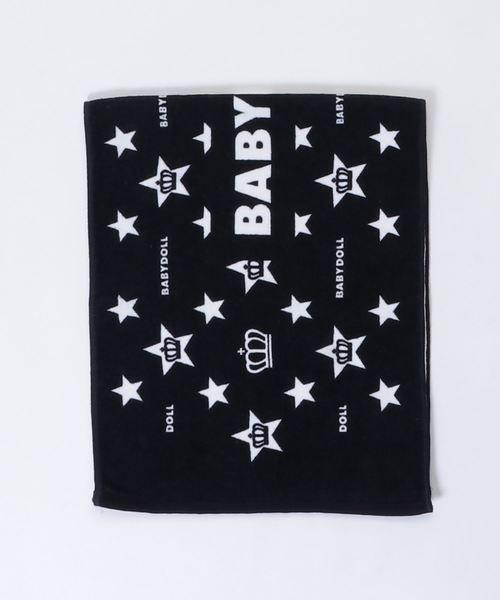 BABYDOLL(ベビードール)の「綿100% スポーツタオル 1856(バスタオル)」|ブラック×ホワイト
