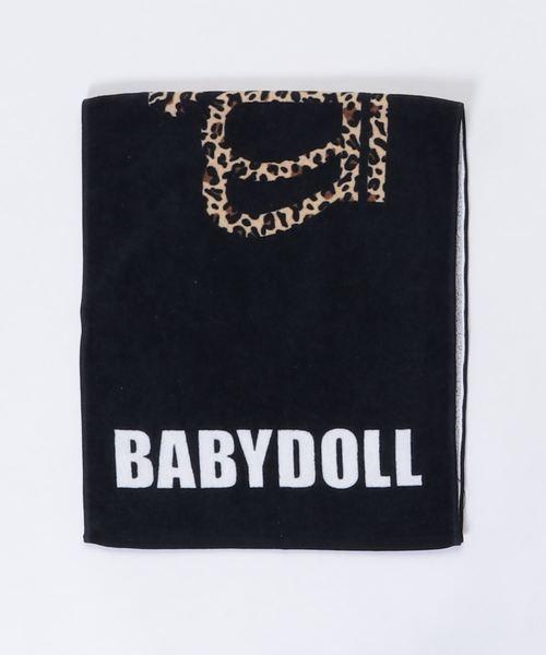 BABYDOLL(ベビードール)の「綿100% スポーツタオル 1856(バスタオル)」 ブラック