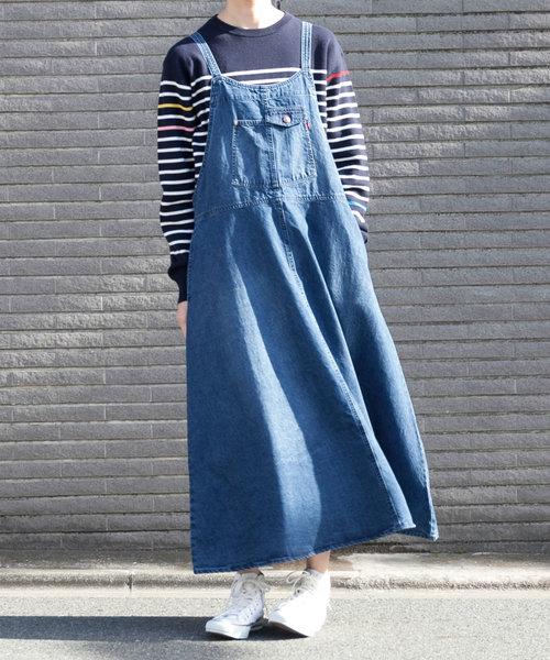 【grn】バックツイル ジャンパースカート/GL733077Q