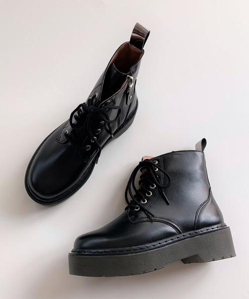 日本最大級 レースアップショートブーツ(ブーツ) Q(キュー)のファッション通販, ナギソマチ:99abc6d3 --- tsuburaya.azurewebsites.net