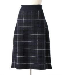 Drawer 12Gミラノチェックニットスカート