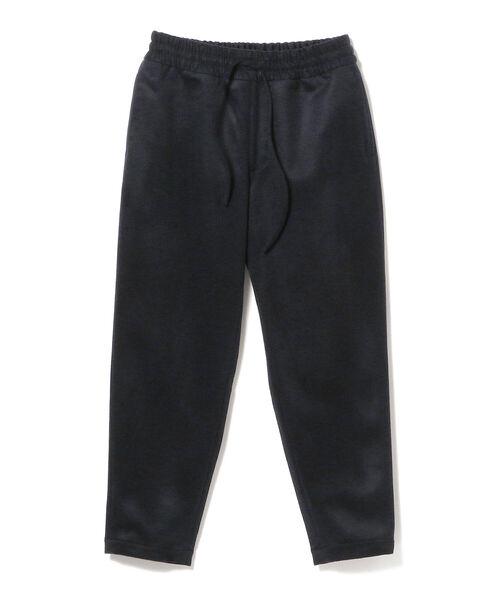 moncao(モンサオ)の「moncao / ウールカシミヤ ドローコード パンツ(その他パンツ)」|ネイビー
