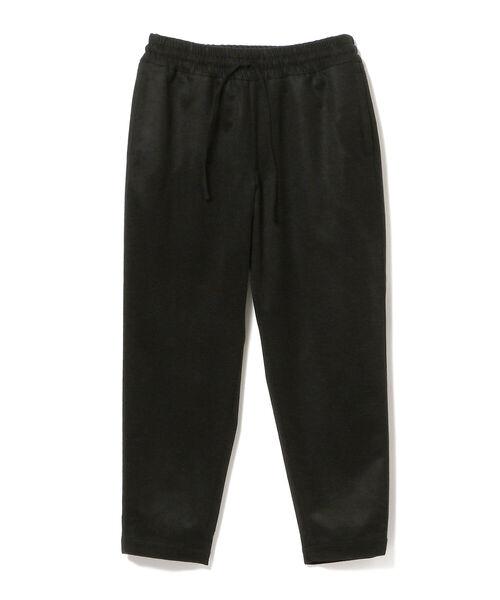 moncao(モンサオ)の「moncao / ウールカシミヤ ドローコード パンツ(その他パンツ)」|ブラック