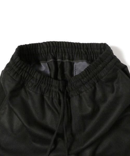 moncao(モンサオ)の「moncao / ウールカシミヤ ドローコード パンツ(その他パンツ)」|詳細画像