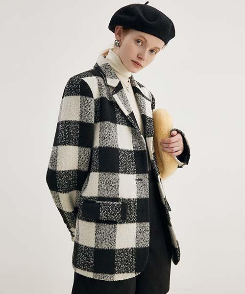 【Fano Studios】【2021AW】Buffalo check jacket coat FD21W009