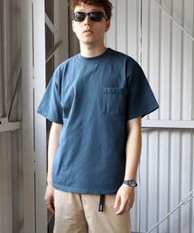 lala Bigin 2021年 6・7月号掲載【 Goodwear /  グッドウェア 】MADE IN USA # レギュラーフィット半袖クルーネック ポケットTシャツ アメリカ製ネイビー