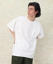 lala Bigin 2021年 6・7月号掲載【 Goodwear /  グッドウェア 】MADE IN USA # レギュラーフィット半袖クルーネック ポケットTシャツ アメリカ製ホワイト