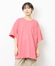 lala Bigin 2021年 6・7月号掲載【 Goodwear /  グッドウェア 】MADE IN USA # レギュラーフィット半袖クルーネック ポケットTシャツ アメリカ製ピンク