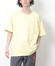 lala Bigin 2021年 6・7月号掲載【 Goodwear /  グッドウェア 】MADE IN USA # レギュラーフィット半袖クルーネック ポケットTシャツ アメリカ製イエロー