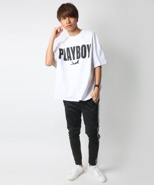 PLAYBOY/プレイボーイ ビッグシルエットロゴTシャツ