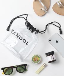 KANGOL(カンゴール)の【WEB限定】KANGOL×FREAK'S STORE/カンゴール クリア巾着バッグ(ビニールバッグ/クリアバッグ)(トートバッグ)
