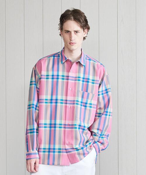 <H>WOOL MOHAIR BOXY SHIRT/シャツ