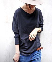antiqua(アンティカ)のcottonシンプルドルマンロンT(Tシャツ/カットソー)
